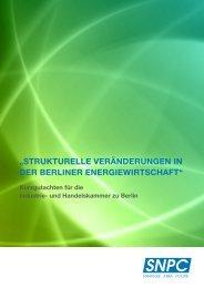strukturelle veränderungen in der berliner energiewirtschaft - SNPC