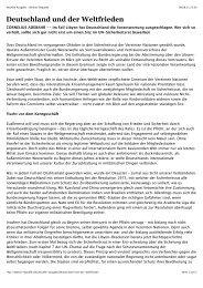 Deutschland und der Weltfrieden. Ein Sitz im Sicherheitsrat verträgt ...