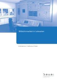 Bildschirmarbeit in Leitwarten - Bundesanstalt für Arbeitsschutz und ...
