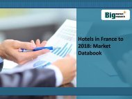 Hotels in France to 2018: Market Databook