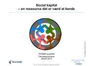 Social kapital – en ressource det er værd at kende - mitBUF.dk