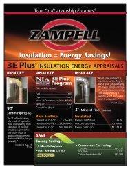 Insulation = Energy Savings! - Zampell