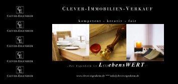 Clever-Immobilien-Verkauf Broschüre