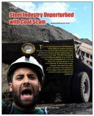 Steel Industry Unperturbed with Coal Scam - Steelworld