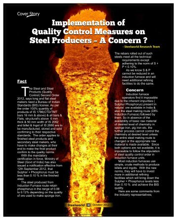 Implementation of Quality Control Measures on Steel ... - Steelworld