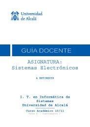 ASIGNATURA: Sistemas Electrónicos - Departamento de Electrónica
