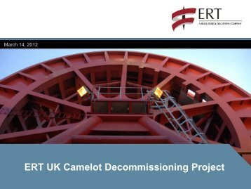 ERT UK Camelot Decommissioning Project