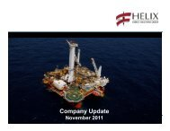 Company Update - Helix Energy Solutions