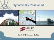 Dynamically Positioned - Helix Energy Solutions
