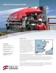 T1200 Sheringham Shoal Offshore Cable Trenching - Helix Energy ...