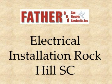 Electrical Installation Rock Hill SC