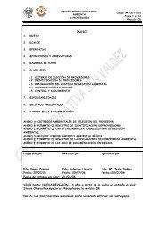 Procedimiento de control ambiental a Proveedores - Escuela ...