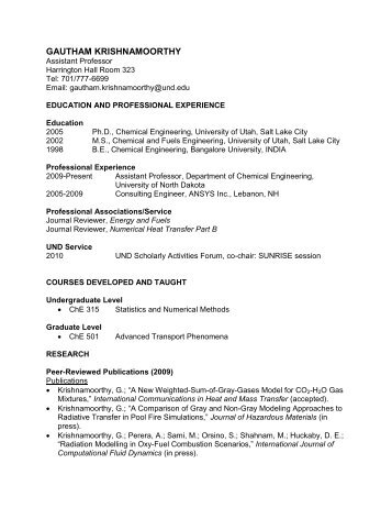 Dr. Bowman\'s Resume - Engineering & Mines - University of North ...