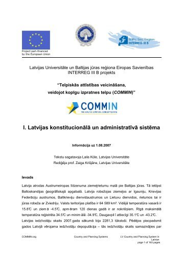 LV Country and Planning System in Latvian - COMMIN