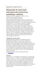 Siste nytt om polio fra Folkehelsa