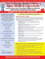 How To Measure Social Media In Government - Oct. 28-30, 2013