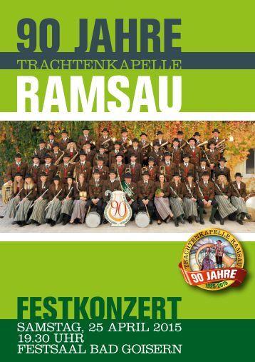 90 Jahre Trachtenkapelle Ramsau - Festkonzert 2015
