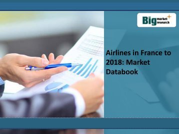 Airlines in France to 2018: Market Databook