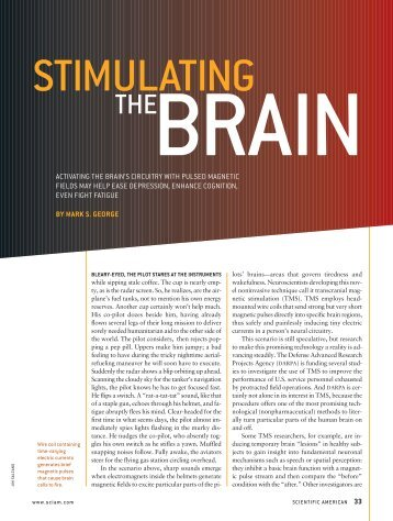 activating the brain's circuitry with pulsed magnetic fields may help ...