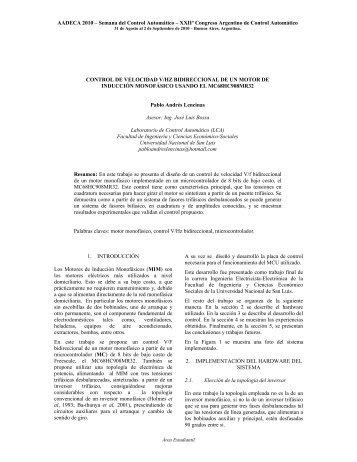 AADECA 2010 – Semana del Control Automático – XXIIº ... - fices
