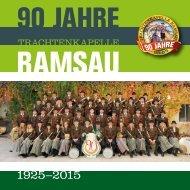90 Jahre Trachtenkapelle Ramsau - Festschrift 2015