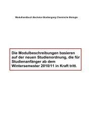 Modulhandbuch Bachelor Chemische Biologie ab ... - Fakultät Chemie