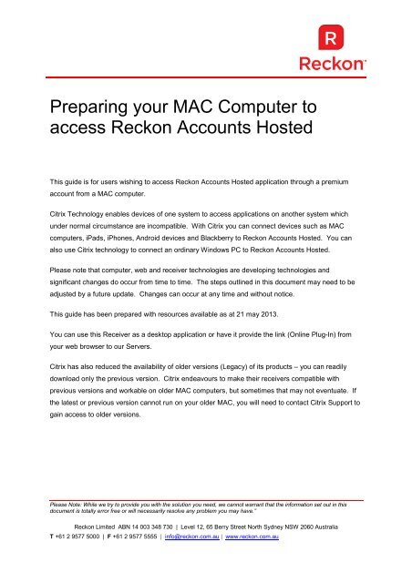 Citrix Download For Mac