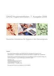 DAHZ-Hygieneleitfaden, 7. Ausgabe 2006 - Zentrum für Zahn ...