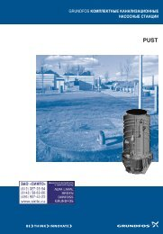 Catalogue pump station Grundfos series PUST from CINTO ...