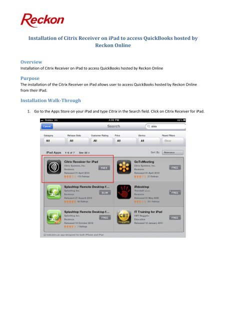 download citrix receiver for ios
