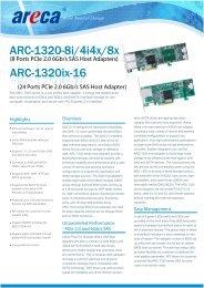 Areca ARC-1320 Datasheet - starline Computer GmbH