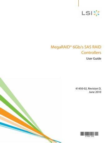 MegaRAID 6Gb/s SAS RAID Controllers - Thomas-Krenn.AG