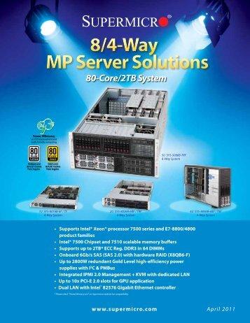 8/4-Way MP Server Solutions
