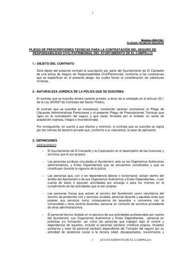 ayuntamiento de el campello 1 1 pliego de prescripciones tecnicas ...
