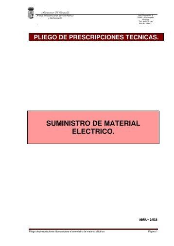 Pliego de Prescripciones Técnicas (290.55 Kb) - Ayuntamiento de El ...