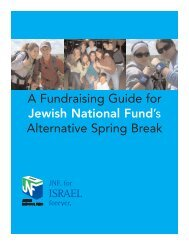 A Fundraising Guide for Jewish National Fund's Alternative Spring ...