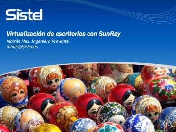Virtualización de escritorios con SunRay