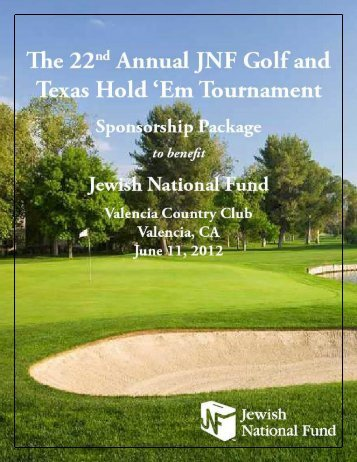 Sponsorship Opportunities - Jewish National Fund