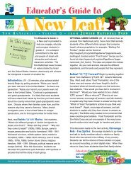 Educator's Guide to - Jewish National Fund