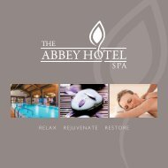 Abbey Hotel - Spa Brochure 2015 - WEB USE
