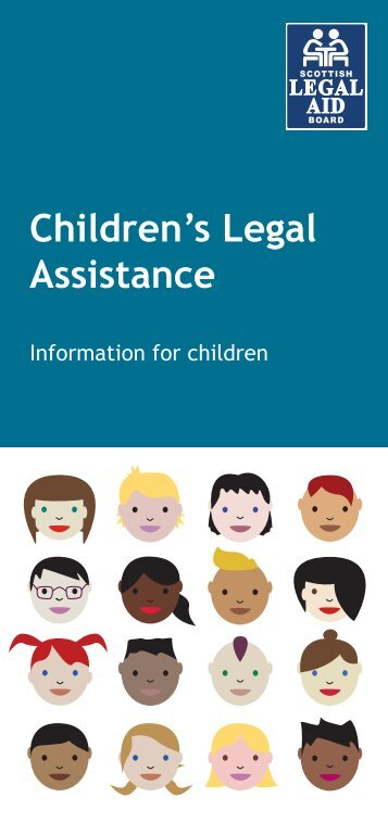 Children's leaflet for children Web - Scottish Legal Aid Board