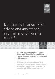 Do I qualify financially for advice and assistance in criminal or ...