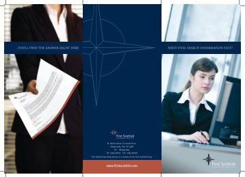 Searching Services Brochure - First Scottish Group