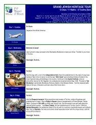 GRAND JEWISH HERITAGE TOUR - Jewish National Fund