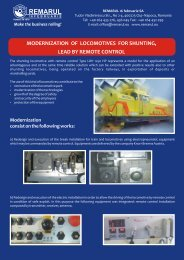 Diesel Hydraulic Locomotives 1250 HP - Modernised, for ... - Remarul