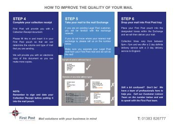 How to improve the quality of your mail - First Scottish Group