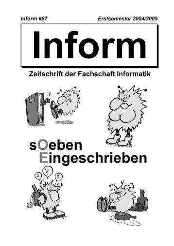 sOeben Eingeschrieben - Fachschaft Informatik