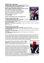 Pressetext DVD 2 - Legends der Lippmann und Rau Festivals auf ...