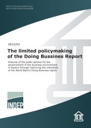 The limited policymaking of the Doing Bussines Report - indep