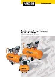 Handwerkerkompressoren Serie CLASSIC